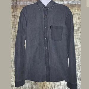 Burberry Brit Vintage Wash Denim Casual Shirt - L